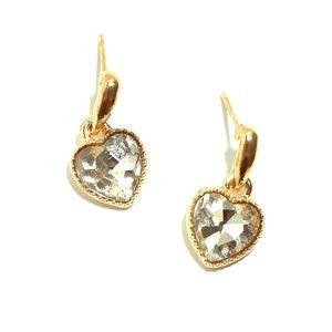 💖NWT💖 Gold Gemstone Heart Dangle Earrings